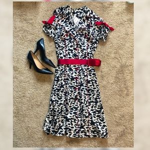GORGEOUS BLACK AND WHITE WITH RED DRESS BNWT XS